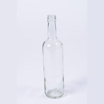 Sirupflasche 500 ml Weissglas mit Gewinde 28mm, ohne Schraubdeckel