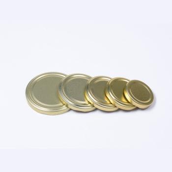 Twist-Off-Deckel aus Weissblech goldfarbig lackiert, TO-70