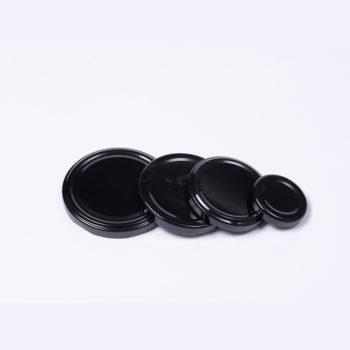 Twist-Off-Deckel aus Weissblech schwarz lackiert, TO-70