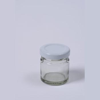 Konfitürenglas 41 ml rund aus Weissglas, ohne Deckel TO-43