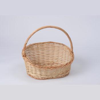 Geschenkkorb mit Henkel naturfarbig oval mitttel