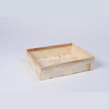 Holzkorb ohne Henkel naturfarbig, rechteckig 8.1023