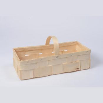 Holzkorb mit Henkel naturfarbig, rechteckig 8.1078