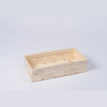 Holzkorb ohne Henkel naturfarbig, rechteckig 8.1022