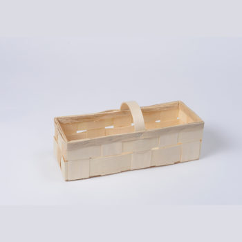 Holzkorb mit Henkel naturfarbig, rechteckig 8.1077
