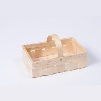 Holzkorb mit Henkel naturfarbig, rechteckig 8.1072