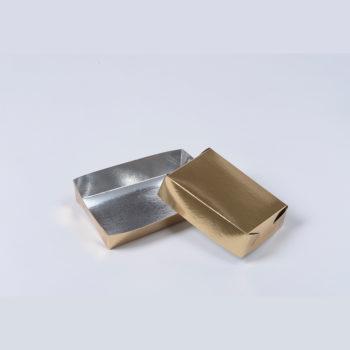 Konfektschale gold- und silberfarbig gross (ca. 300g)