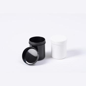 Salbentopf schwarz aus Kunststoff, inklusive Deckel für cirka 20 Gramm