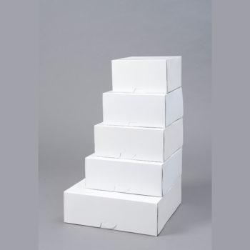 Tortenkarton weiss mit Klappdeckel quadratisch