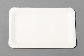 Pappteller weiss, beschichtet, rechteckig