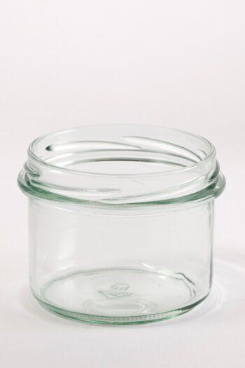 Konfitürenglas 235 ml rund aus Weissglas, ohne Deckel TO-82