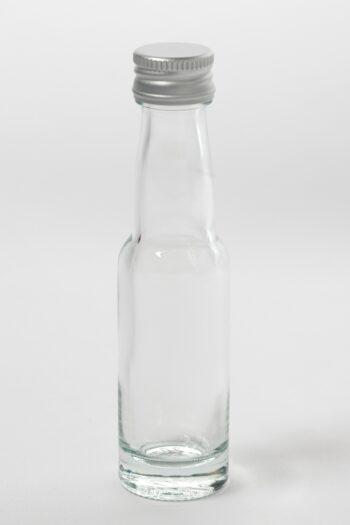 Portionenflasche 20ml Weissglas mit Gewinde 18 mm